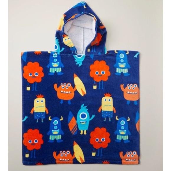 3/$15 ☘️ Indigo Kids Poncho Towel- Monster